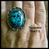 Turquoise ring 7.5