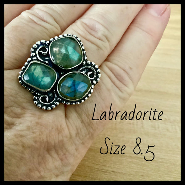 Labradorite Ring 8.5
