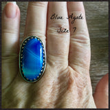 Blue Agate Ring 7