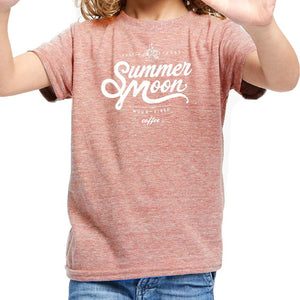 Summer Moon Youth Tee (Red with White Logo)