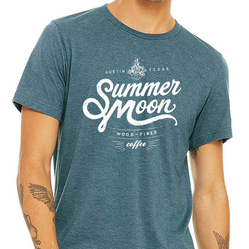 Summer Moon Tee (Heather Teal)
