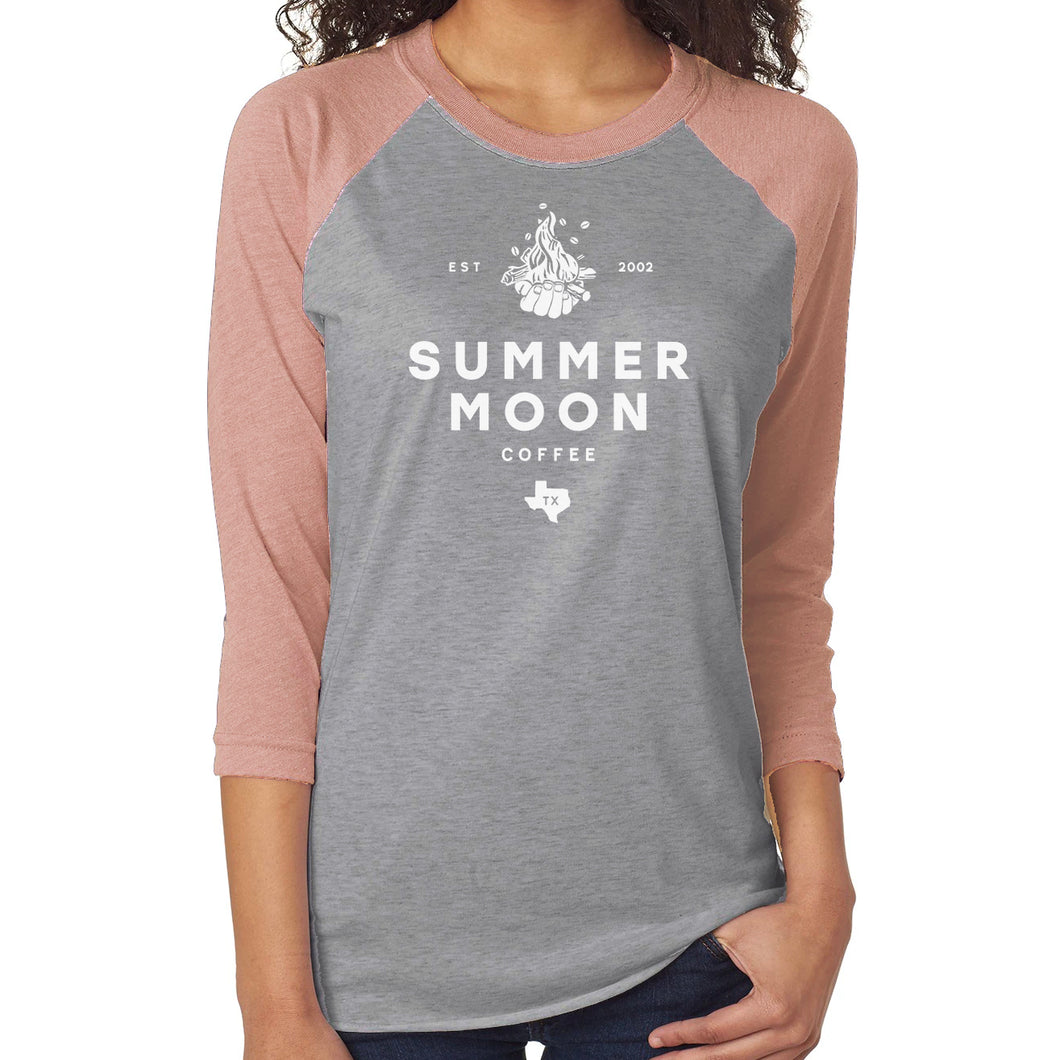 Summer Moon Fall Baseball Tee