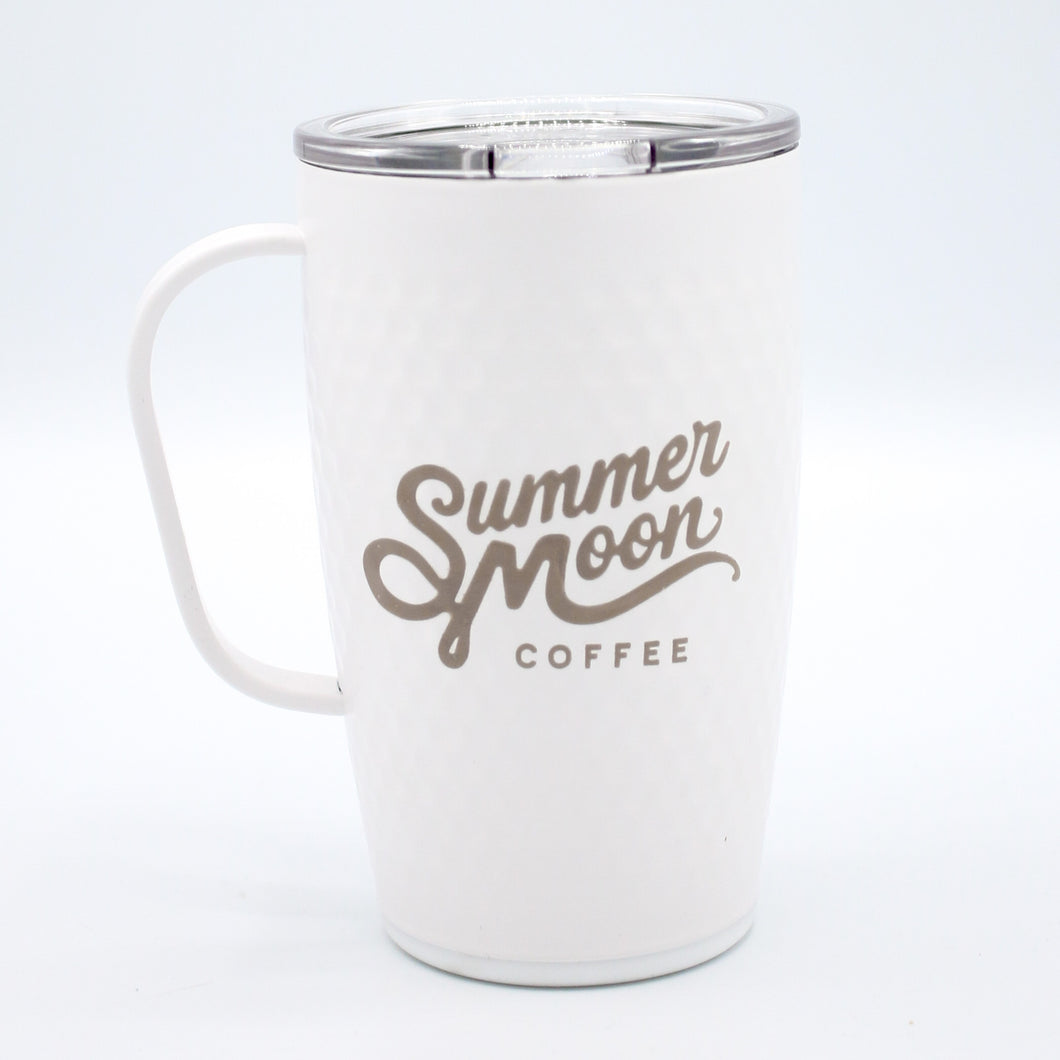 Textured White Travel Mug