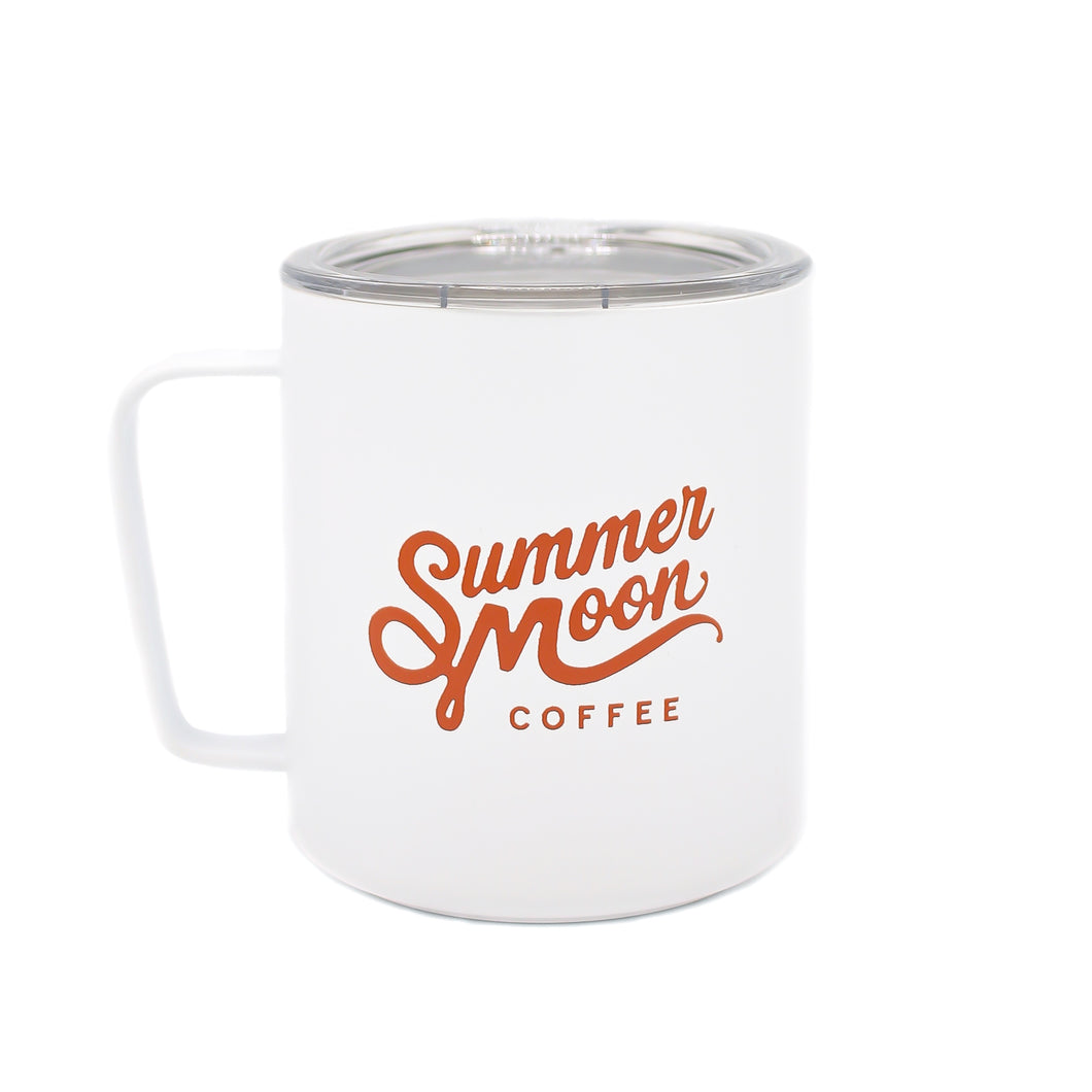 White + Orange Insulated Camp Mug