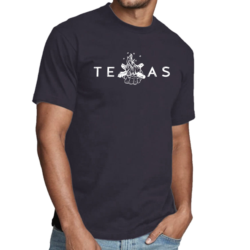 Summer Moon TEXAS Navy Crewneck