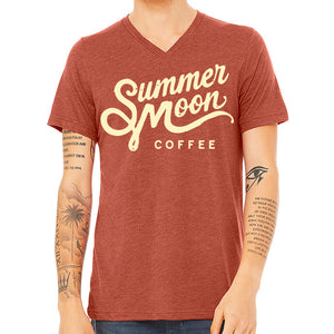 Summer Moon Clay Red V-Neck