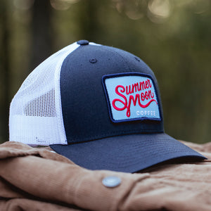 Summer Moon Trucker Hat - Blue