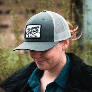 Summer Moon Trucker Hat - Gray