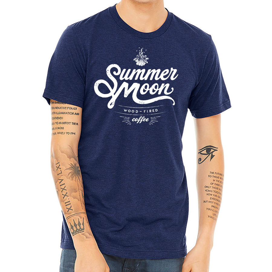 Summer Moon Tee (Heather Navy)