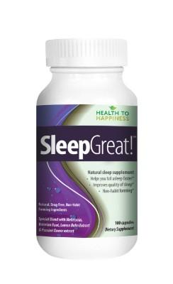 ✅Sleep Great is a Non-Habit Forming Natural Sleeping Aid. Special Blend with Melatonin, Valerian, Lemon Balm. 100 caps