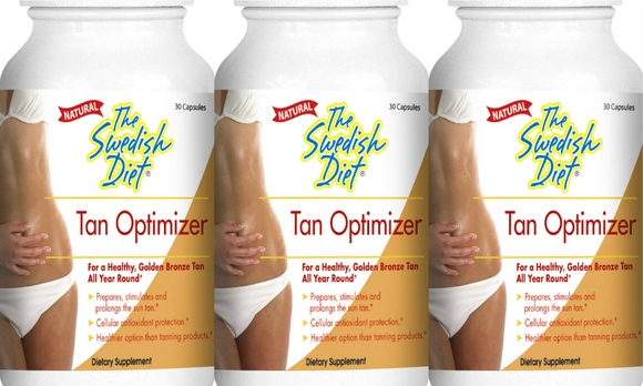 The Swedish Diet Tan Optimizer, best tanning pills, 3-Pack