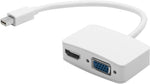 Blupeak Mini DisplayPort Male to HDMI & VGA Adapter