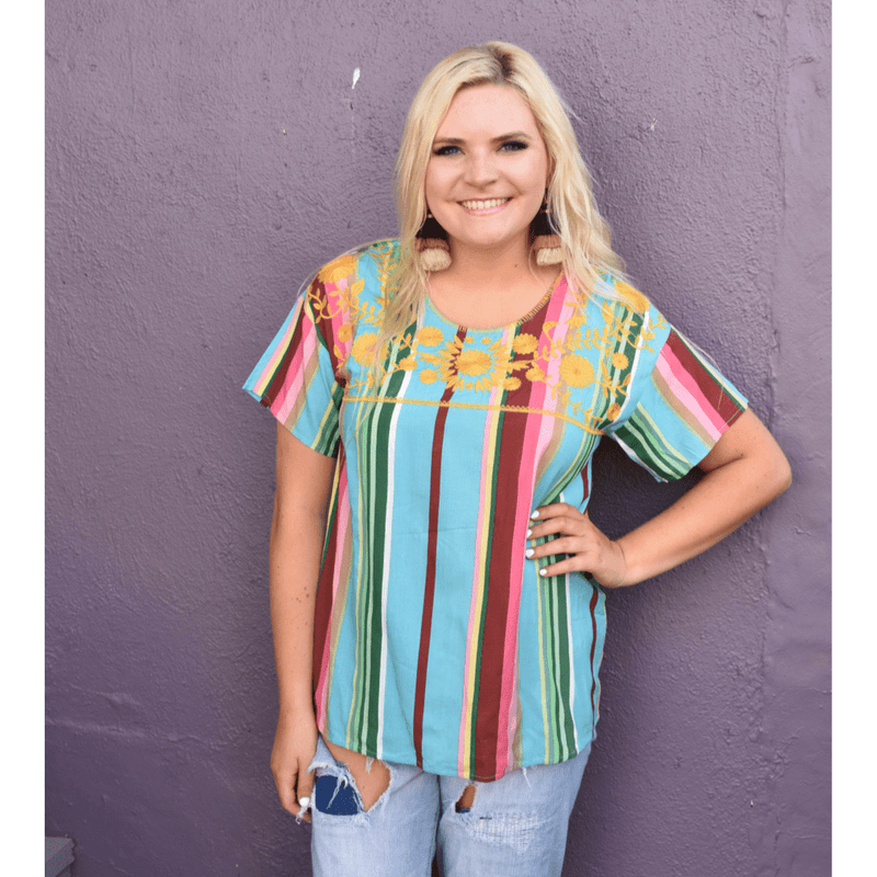 Samantha Serape Top - Layerz Clothing