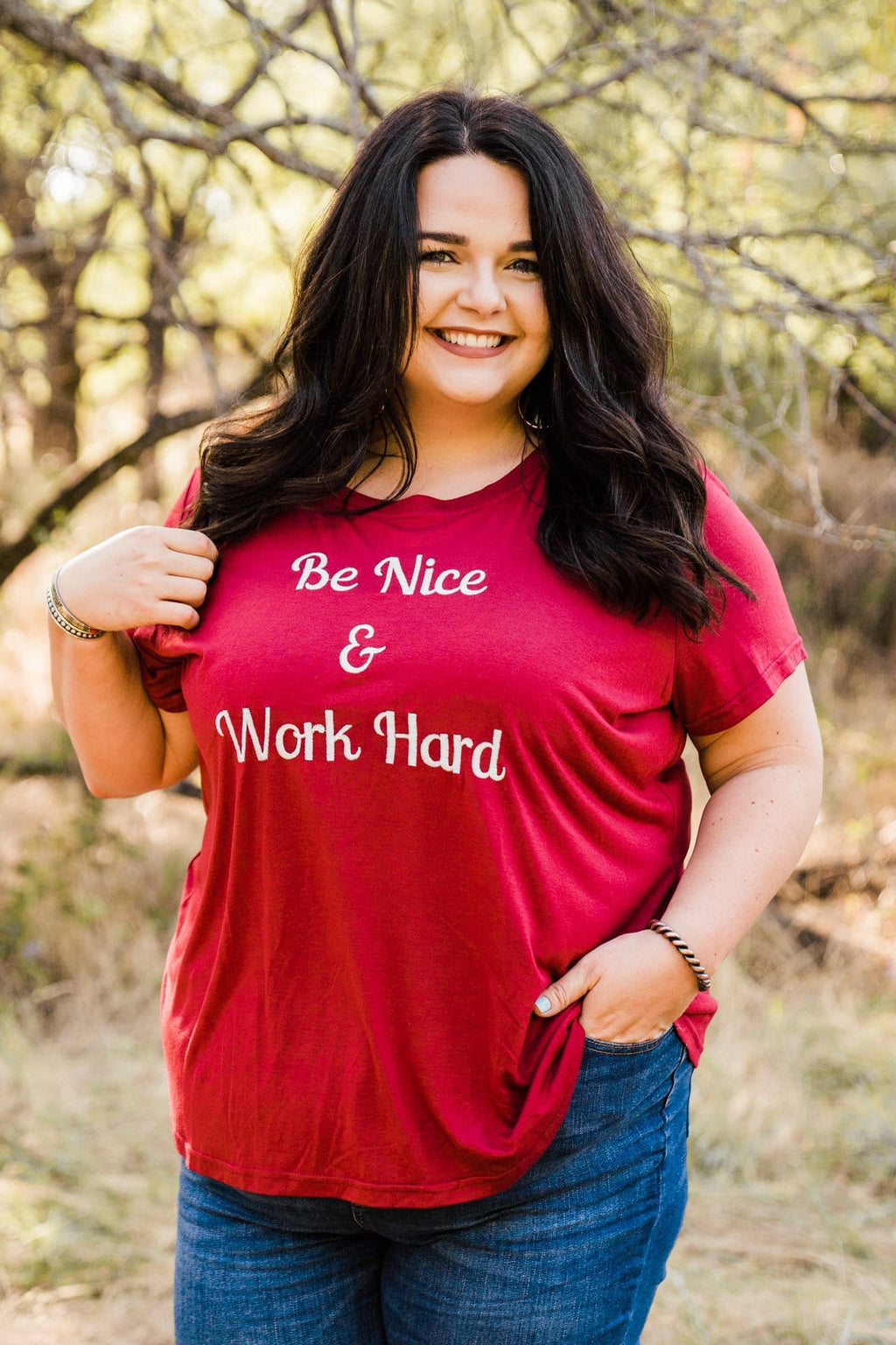 Be Nice Embroidered Tee