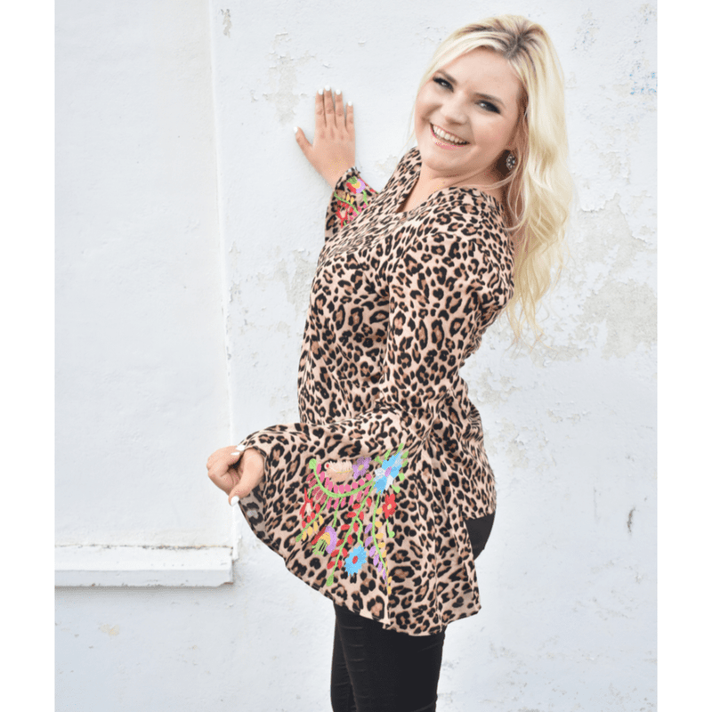Chloe Leopard Top - Layerz Clothing
