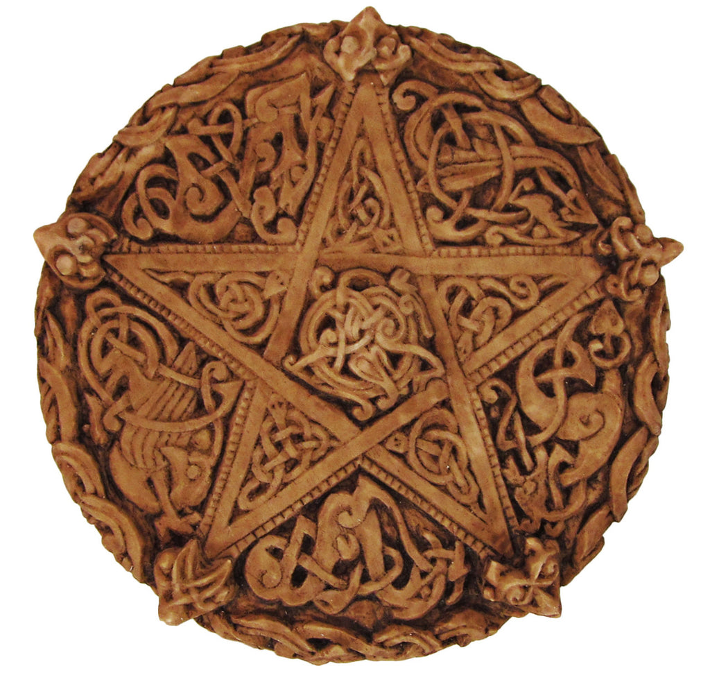 Celtic Knotwork Pentacle Wall Plaque