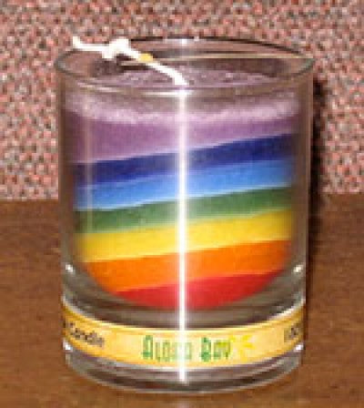 Aloha Bay Rainbow Chakra Jar Candle - Various Sizes