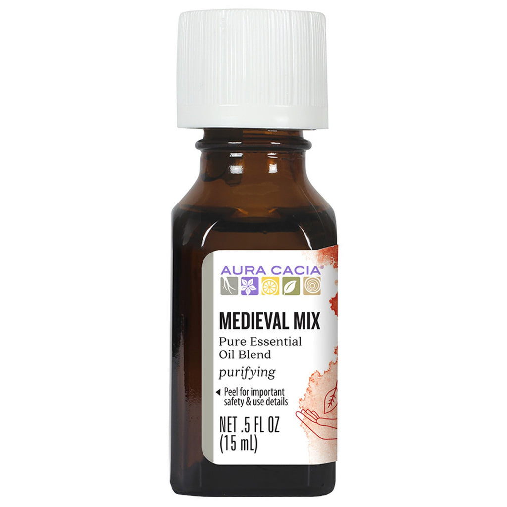 Aura Cacia Medieval Mix Essential Oil Blend Featuring Sweet Orange & Lavender