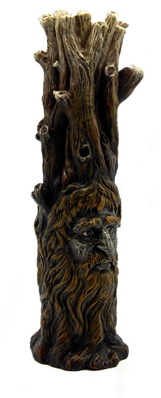 Green Man & Woman Tree Trunk Incense Burner