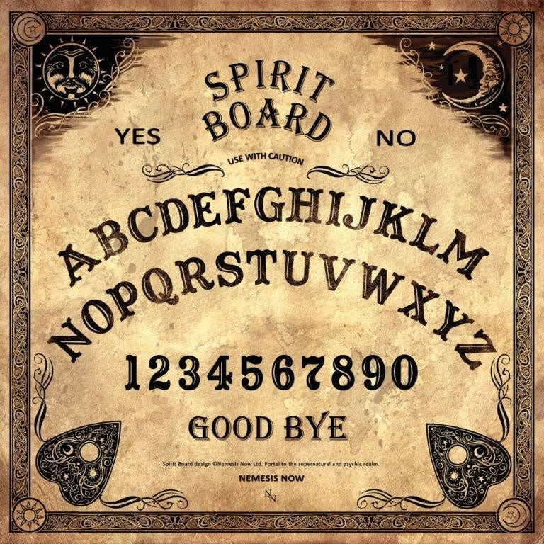 Vintage Style Spirit Board with Planchette