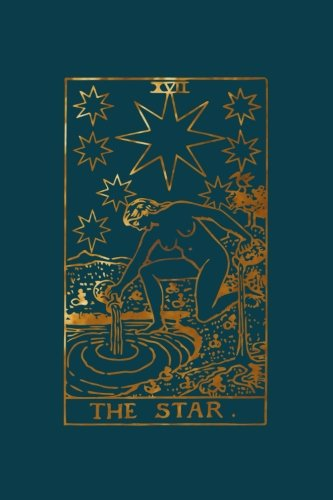 Star Tarot Card Blank Lined Journal