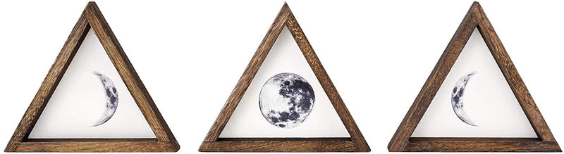 Moon Phase Wall Art Trio - Various Colors