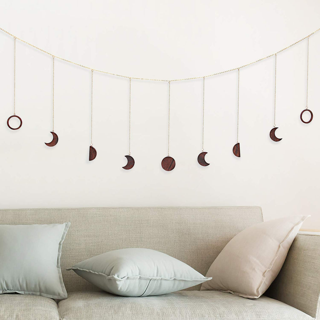 Wooden Moon Phase Garland