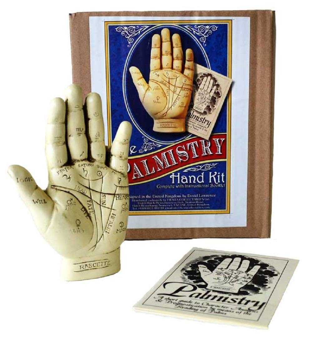 Palmistry Hand Resin Statue with Instructional Booklet