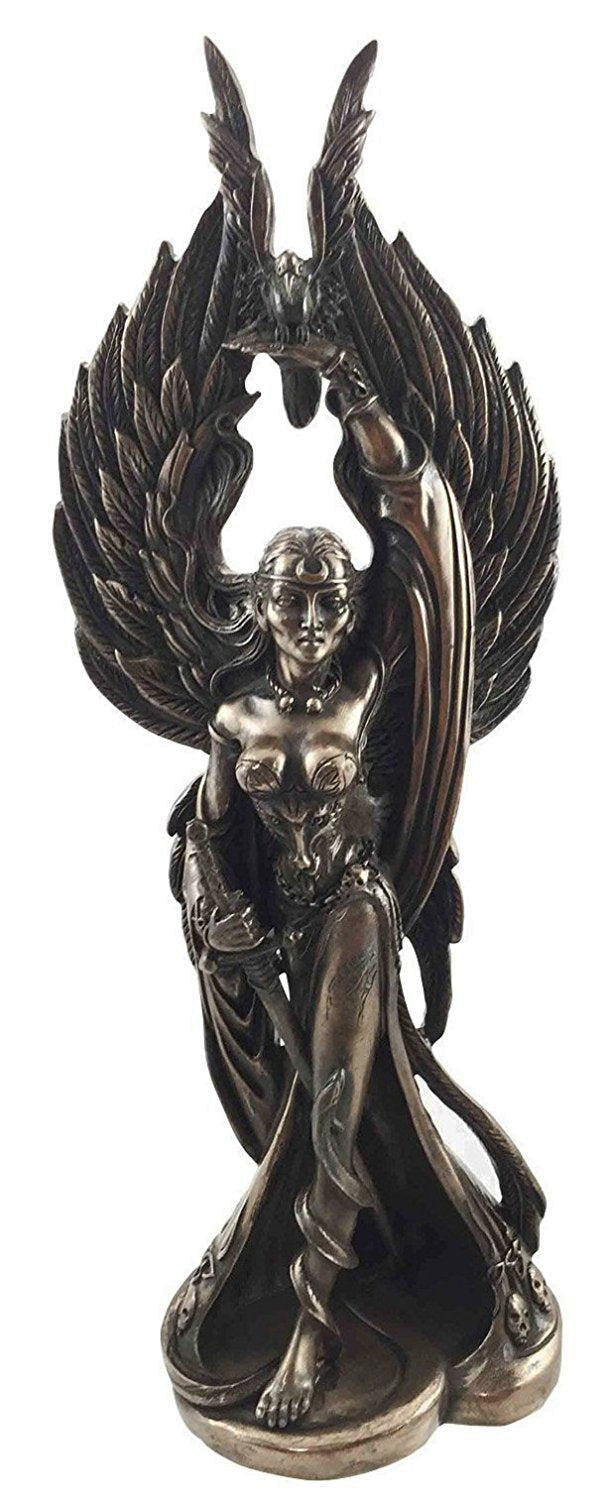 Cold Cast Bronze Morrigan Statue