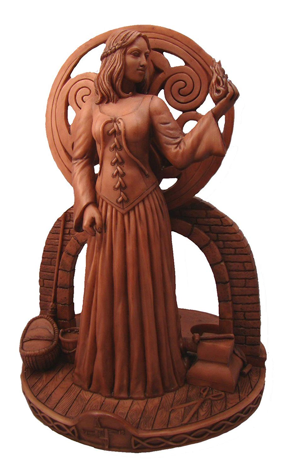Brigit Triple Candle Holder Shrine Statue by Mickie Mueller
