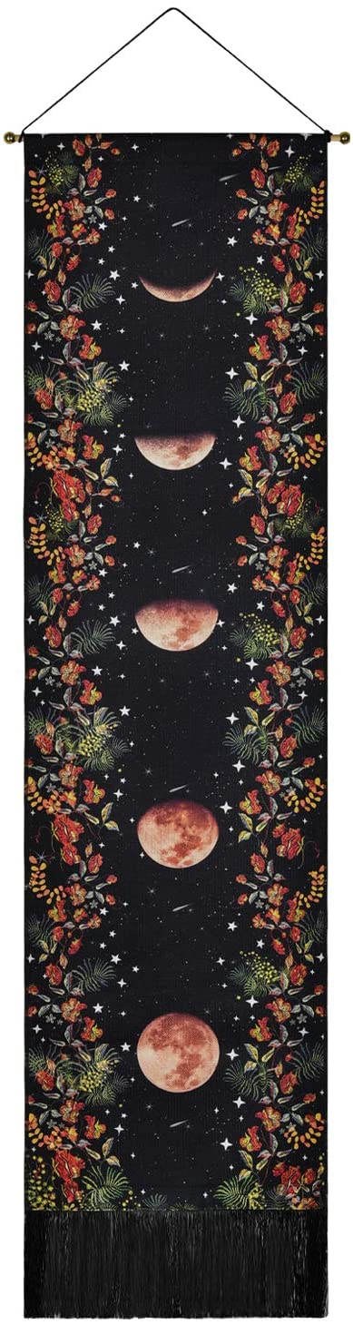 Moon Phase Garden Wall Hanging with Fringe