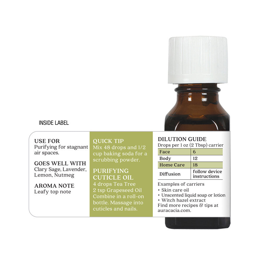 Aura Cacia Tea Tree Oil .5 oz