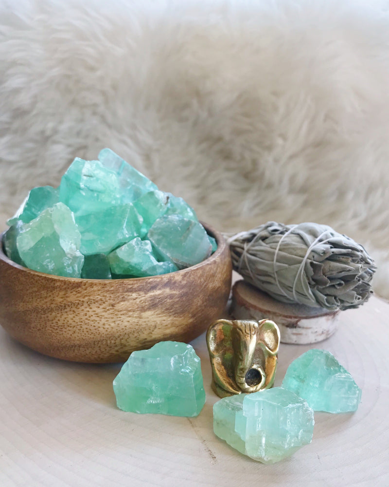 Rough Aqua Calcite for Calming the Emotions