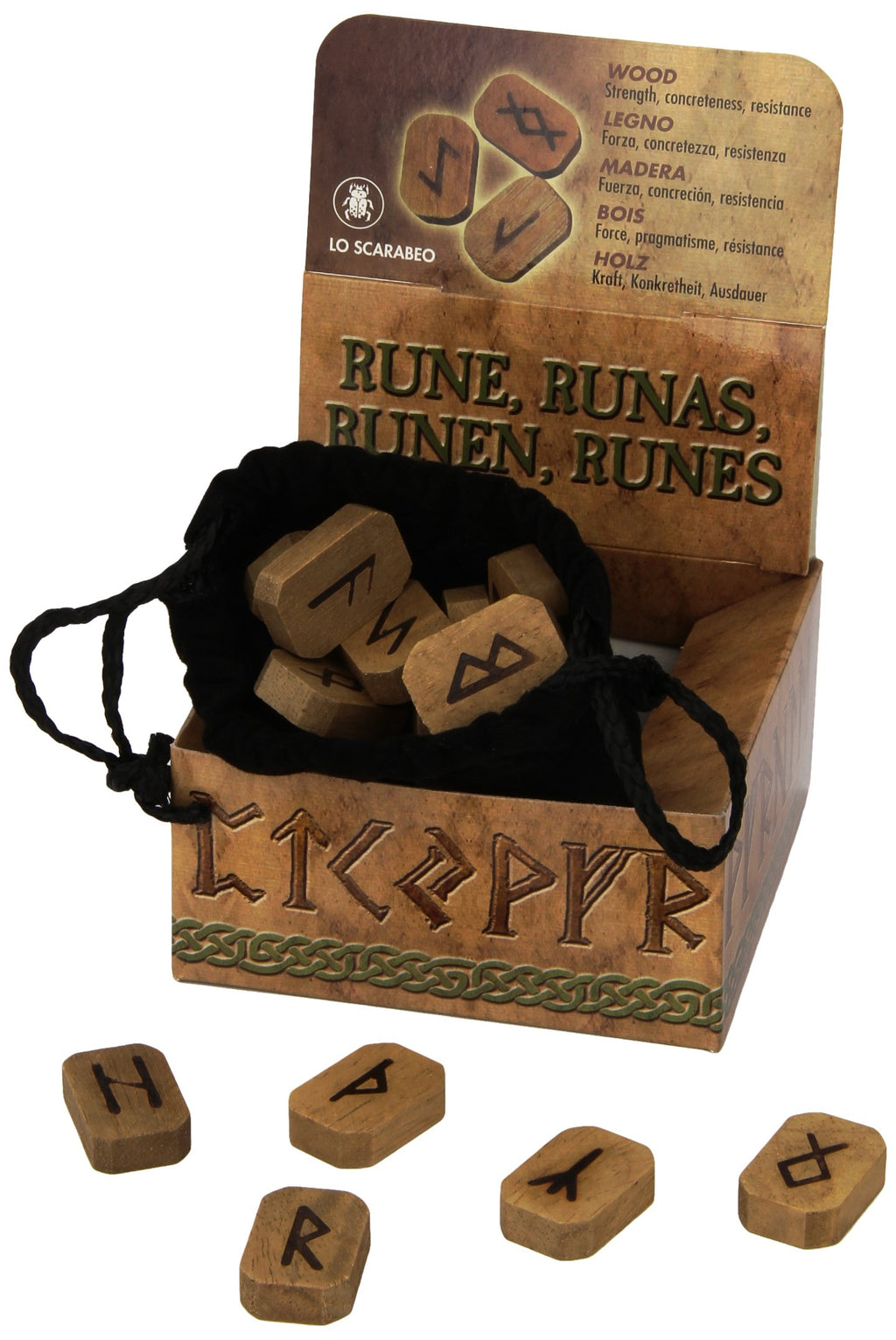 Wooden Runes by Lo Scarabeo