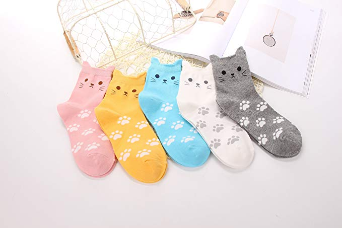 Cat Lovers Socks - Various Colors