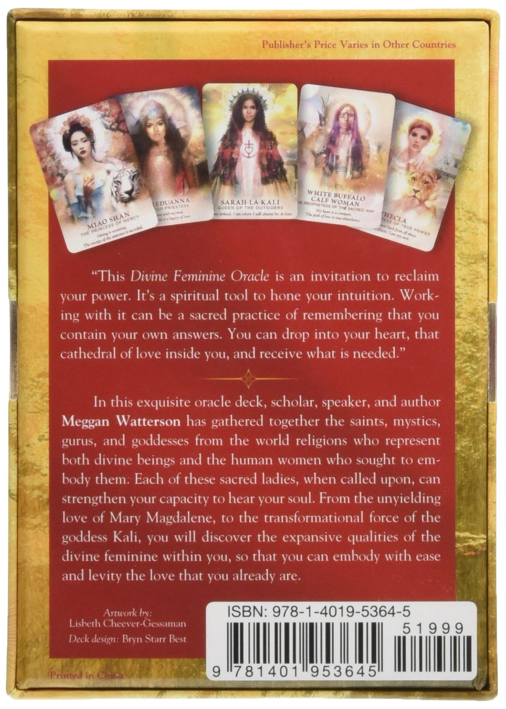 Divine Feminine Oracle by Meggan Watterson & Lisbeth Cheever-Gessaman