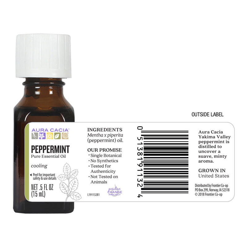 Aura Cacia Peppermint Oil .5 oz.