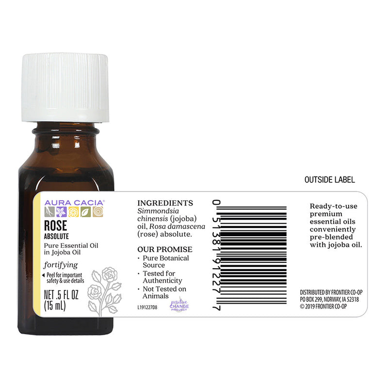 Aura Cacia Rose Absolute in Jojoba 0.5 oz