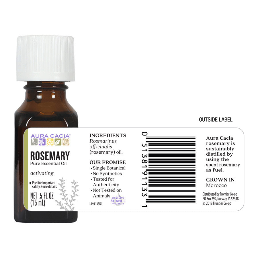 Aura Cacia Rosemary Essential Oil .5 oz.