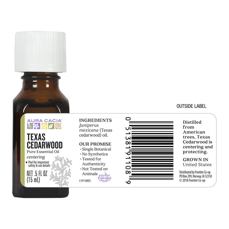 Aura Cacia Texas Cedarwood Oil .5 oz.