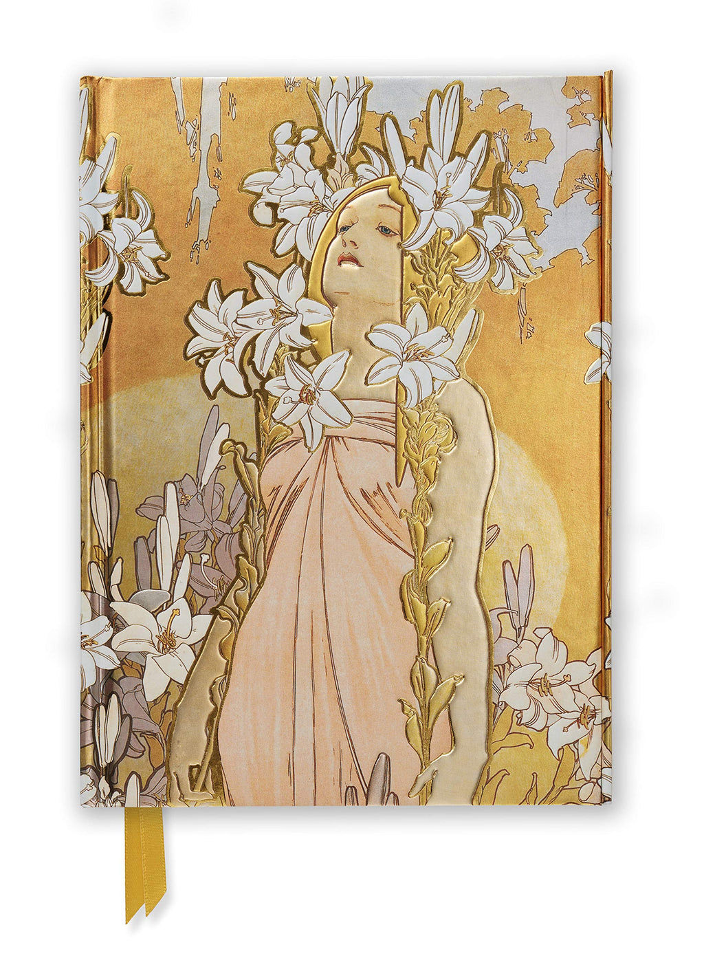 Lily Flowers Journal by Mucha