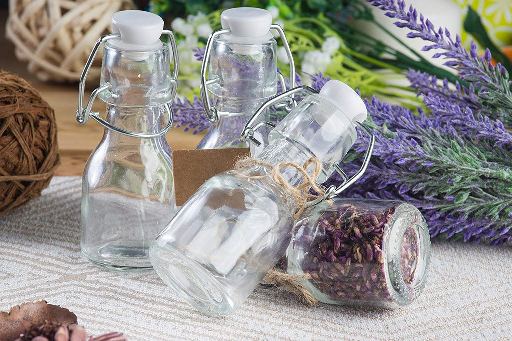 Glass Swing-Top Apothecary Bottles