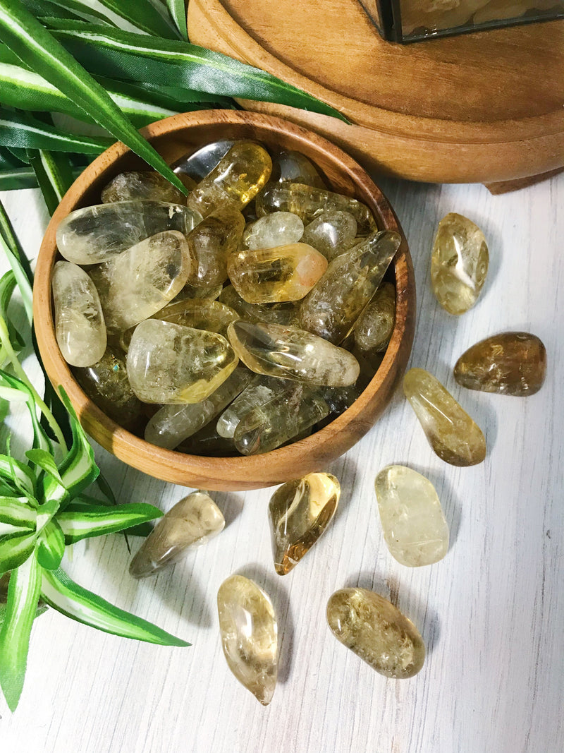 Tumbled Natural Citrine for Success & Positive Energy