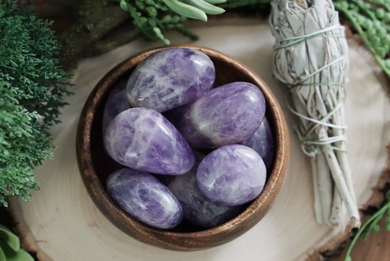 Large Tumbled Light Amethyst for Protection & Healing