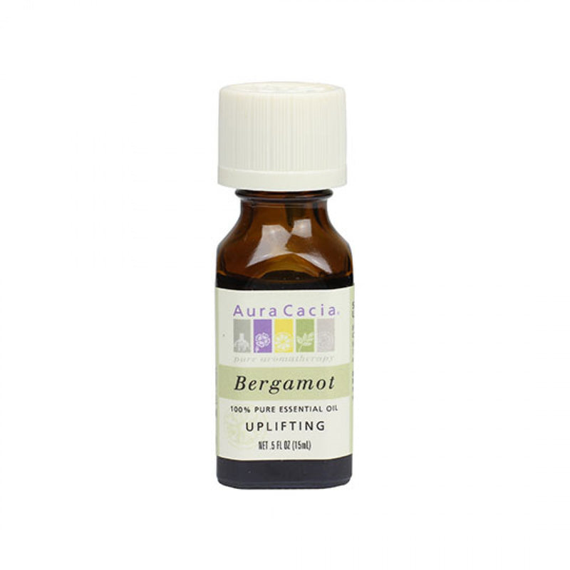 Aura Cacia Bergamot Essential Oil for Uplifting