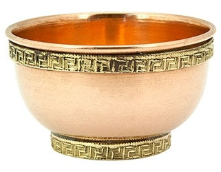 Tibetan Copper Offering Bowls - Various Designs