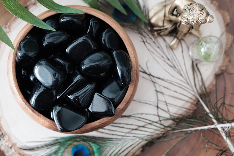 Tumbled Obsidian for Personal Growth