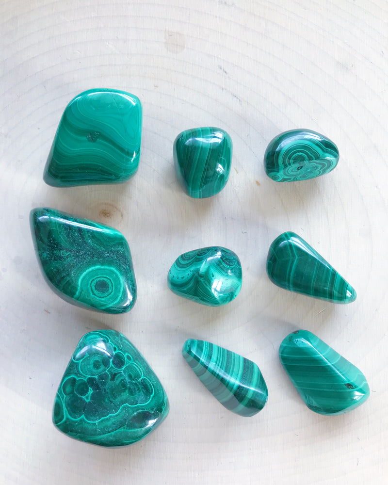 Tumbled Malachite for Protection & Intuition