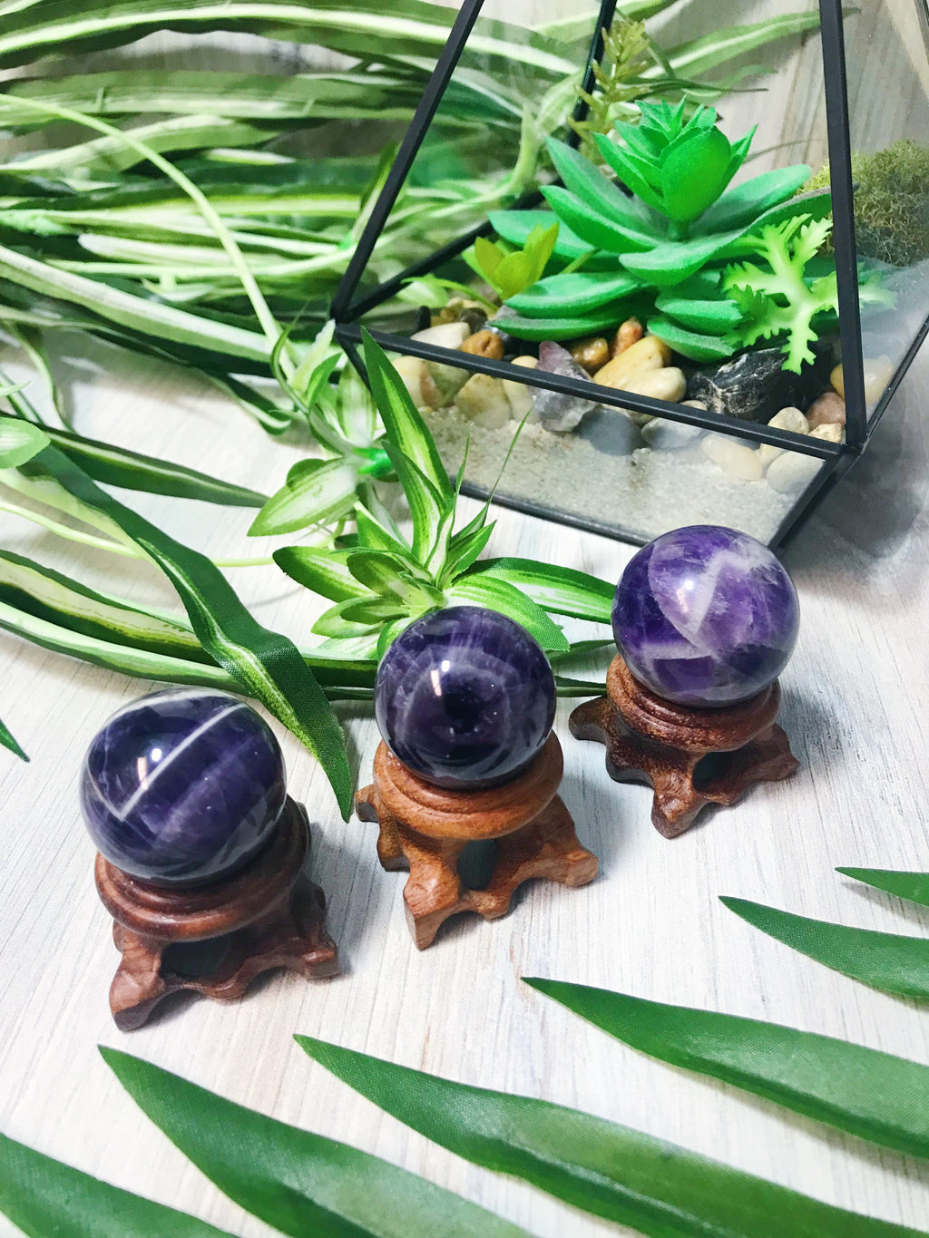 Amethyst Mini Spheres for Protection & Healing