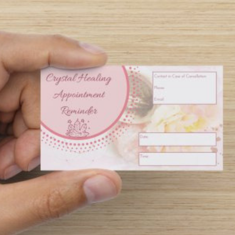 [CRYSTAL HEALER TOOLS] Appointment Reminder Cards (Pack of 35)